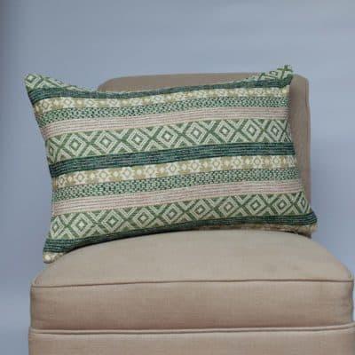Maya Aztec Jacquard XL Rectangular Cushion in Grass