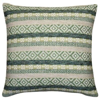 Maya Aztec Jacquard Extra-Large Cushion in Grass