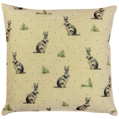 Tapestry Hares Cushion