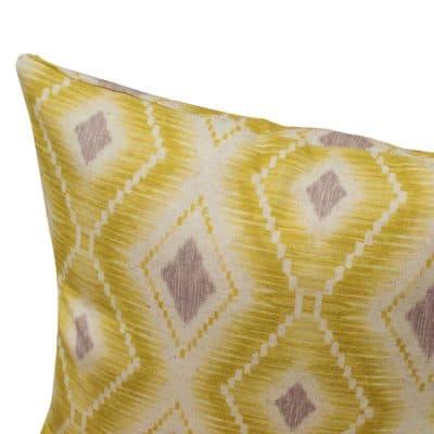 Berlian Ikat Printed Cushion in Yellow