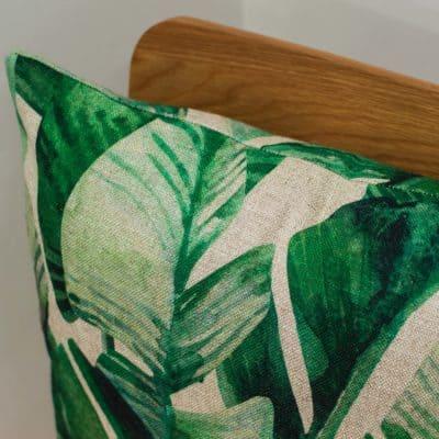Linen Rich Palm Leaf Cushion