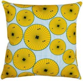 Atomic Poppy Head Retro Cushion