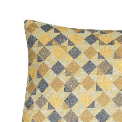 Harlequin Tapestry XL Rectangular Cushion in Ochre Yellow