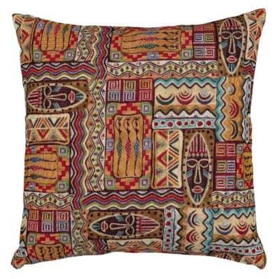 African Mask Cushion