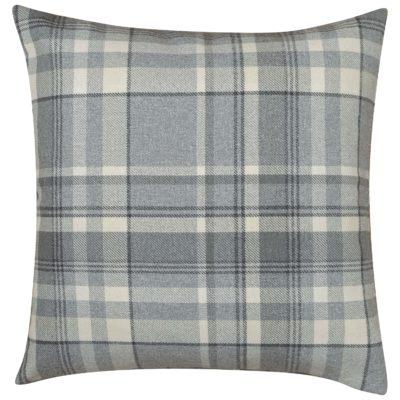 Tartan Check XL Cushion in Slate Grey