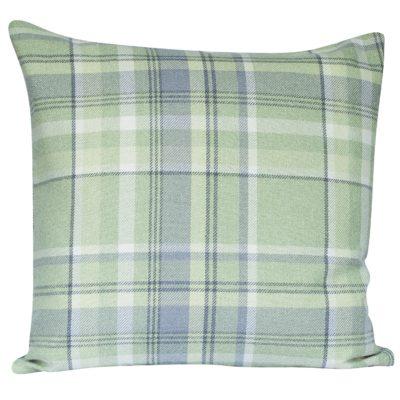 Tartan Check Cushion in Sage Green