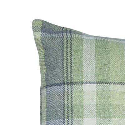 Tartan Check XL Cushion in Sage Green