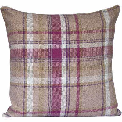 Tartan Check XL Cushion in Heather and Green