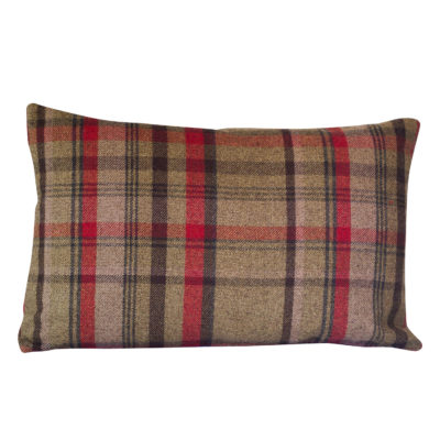 Tartan Check XL Rectangular Cushion in Red and Green