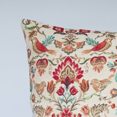 XL Morris Style Bird Garden Tapestry Cushion