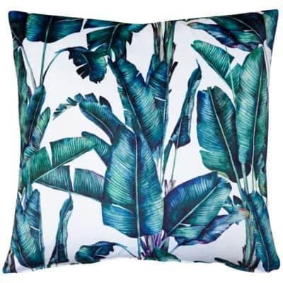 Rios Velvet Jungle Cushion in Natural