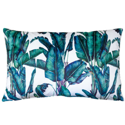 Rios Velvet Jungle XL Rectangular Cushion in Natural