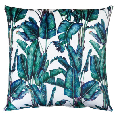Rios Velvet Jungle Extra-Large Cushion in Natural