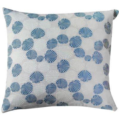 Linen Effect Seashells Extra-Large Cushion
