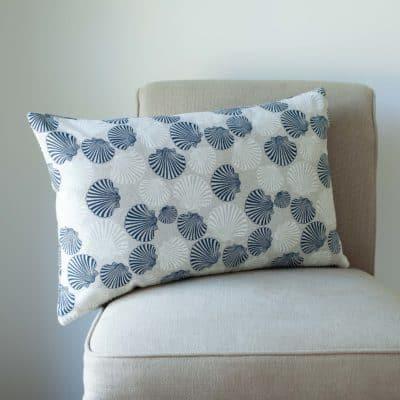 Linen Effect Seashells XL Rectangular Cushion