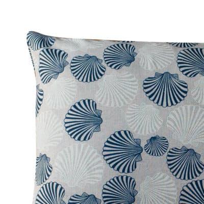 Linen Effect Seashells Boudoir Cushion