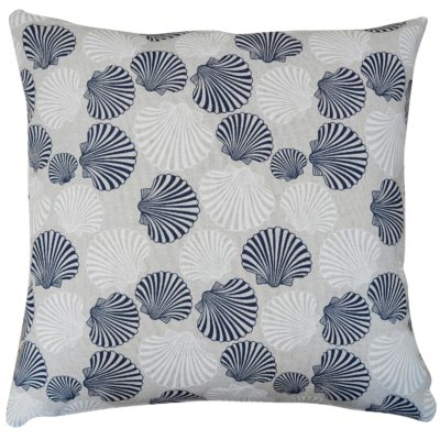Linen Effect Seashells Cushion