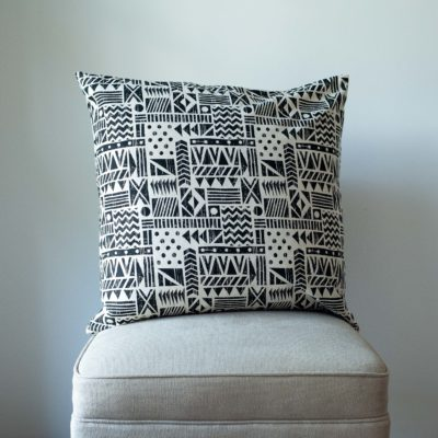 Monochrome Navajo Print Extra-Large Cushion