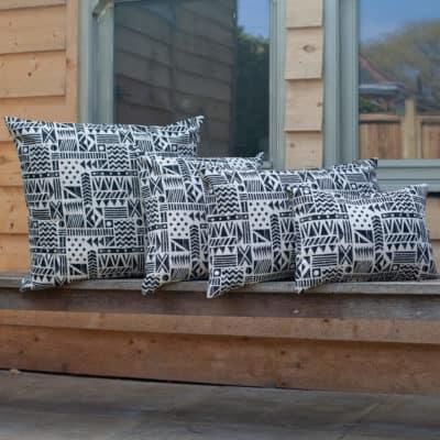 Monochrome Navajo Print Cushion