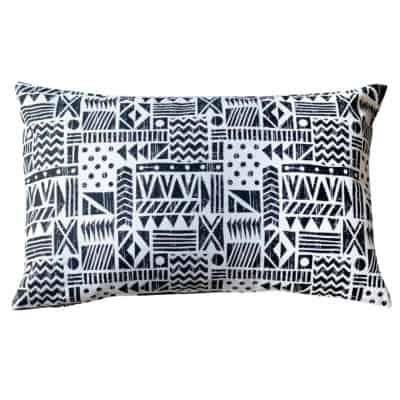Monochrome Navajo Print XL Rectangular Cushion
