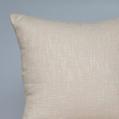 Linen Look Plain Cushion in Natural