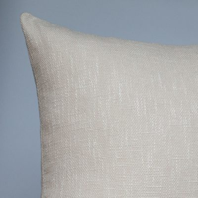 Linen Look Plain Extra-Large Cushion in Natural