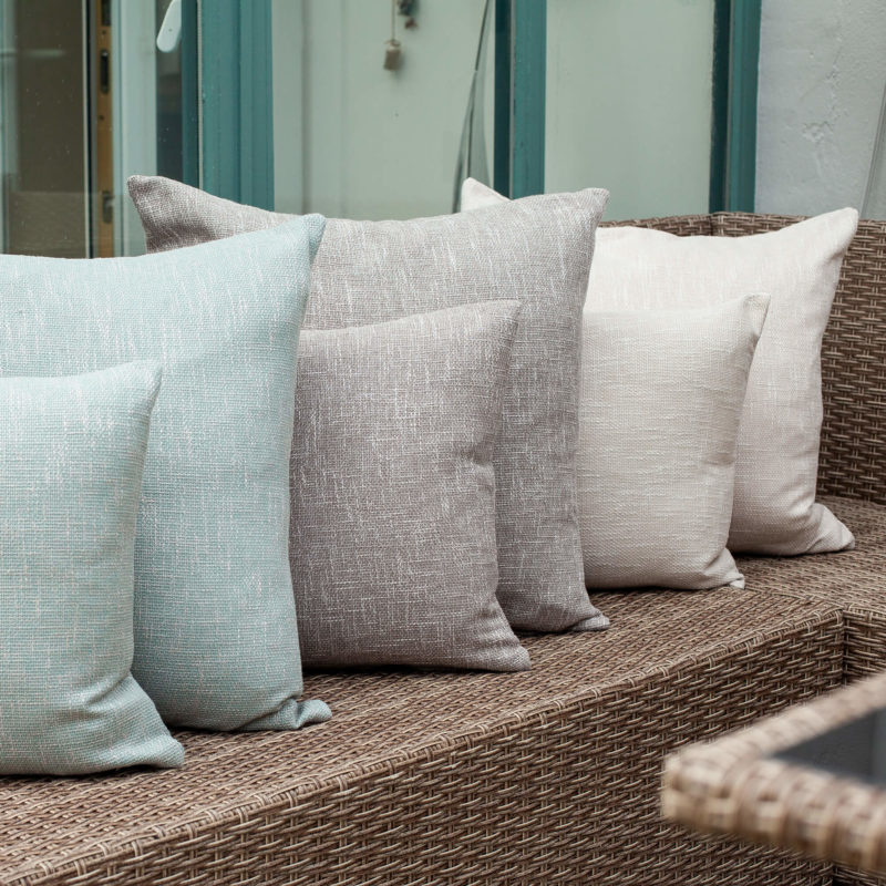 Linen Look Plain Cushion