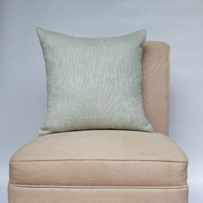 Linen Look Plain Cushion in Duck Egg Blue