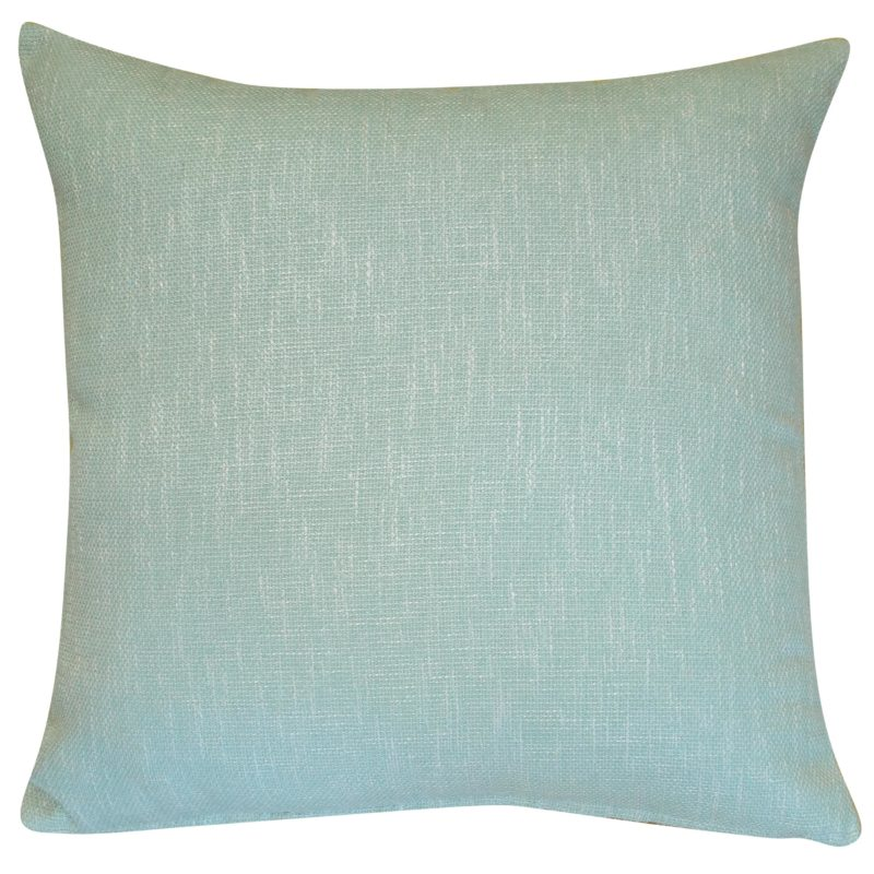 Linen Look Plain Extra-Large Cushion in Duck Egg Blue
