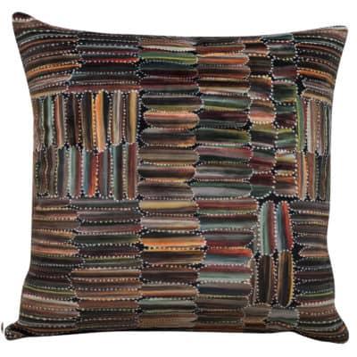 Aboriginal Velvet Print Cushion