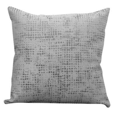 Abstract Semi Plain Textured Cushion in Silver