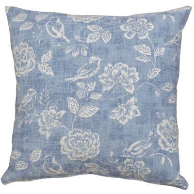 Country Birds Denim Blue Cushion