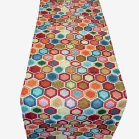 Honeycomb Tapestry Table Runner