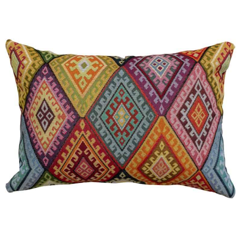 Kilim Weave Rainbow Boudoir Cushion