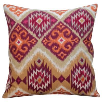 Navajo Kilim Cushion in Burgundy
