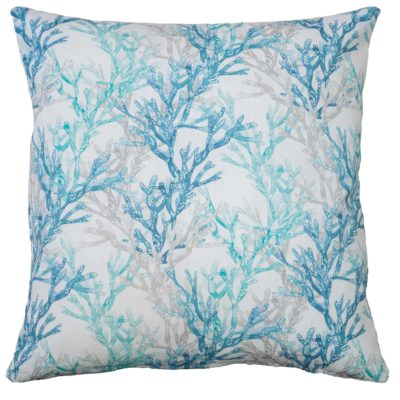 Coral Reef Cushion in Blue