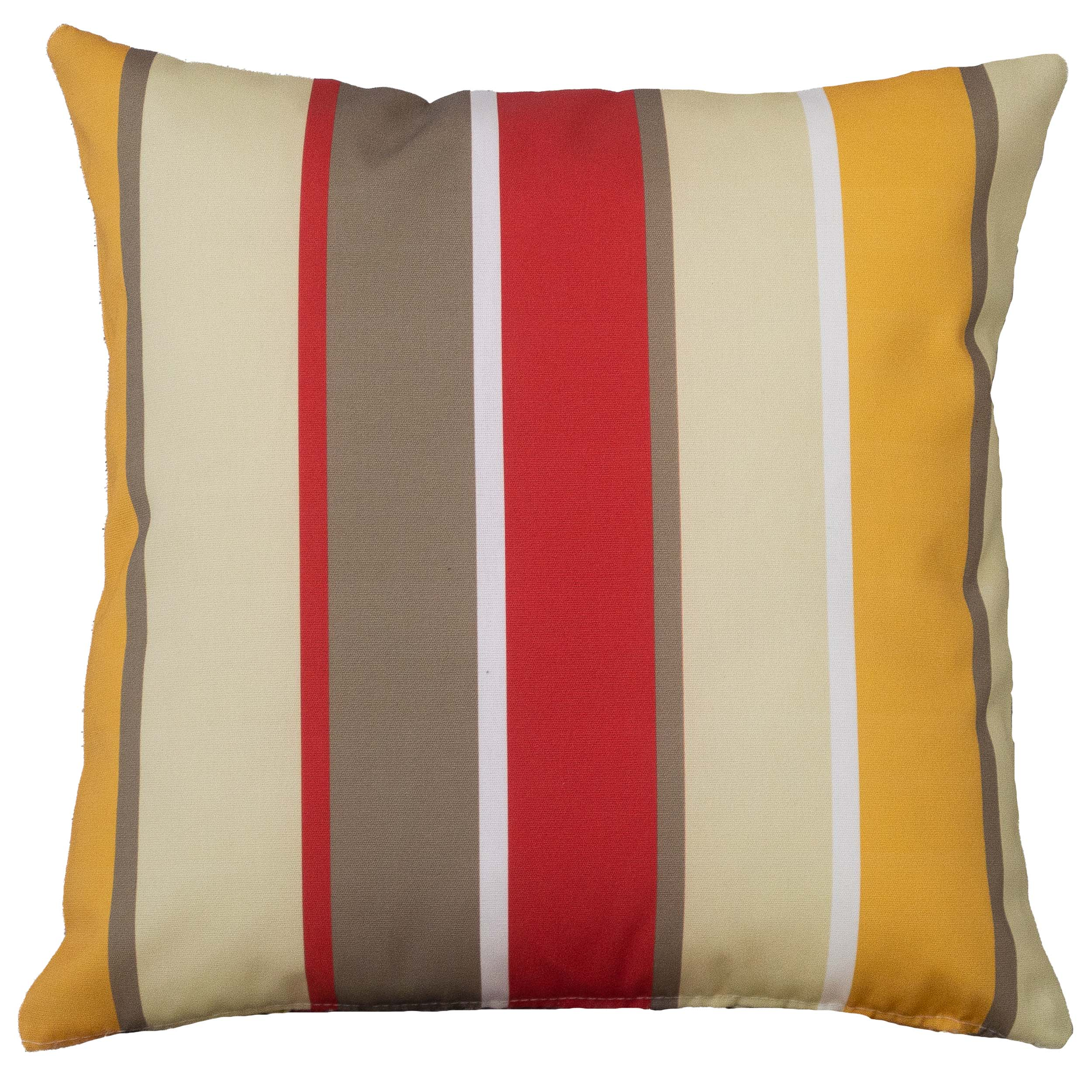 Striped Outdoor Cushion in Red and Sand
