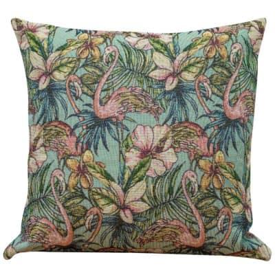 Retro Flamingo Tapestry Cushion