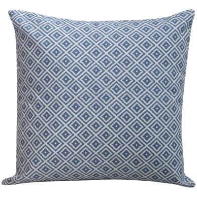 Scandi Ikat Cushion in Denim