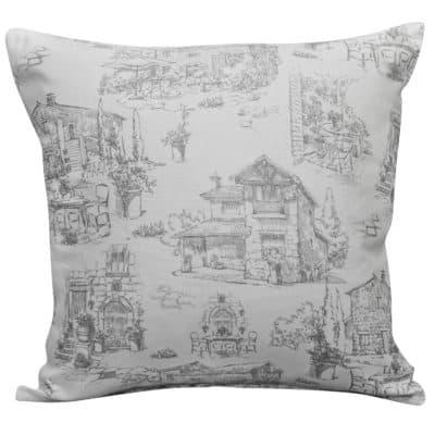 Toile Hamlet Cushion in Grey