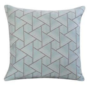 Triangle Geometry Cushion In Duck Egg
